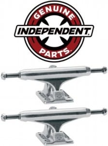 INDEPENDENT Skateboard Trucks 129mm Silver Raw STAGE 11 7.75 in PAIR (2 trucks)
