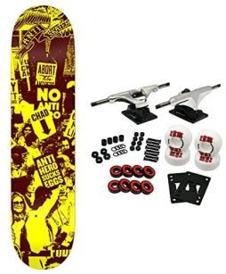 ANTI-HERO Skateboard Complete PROTEST LG 8.25 YELLOW