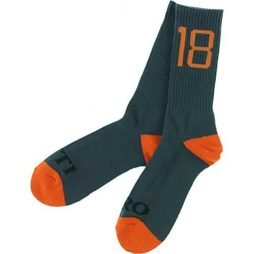 Antihero Inauthentic Crew Socks Charcoal/Orange Single Pair