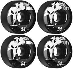 BONES Skateboard WHEELS 100s 54mm BLACK SKATEBOARD