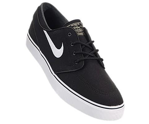 ee6c38272f007 Nike Zoom Stefan Janoski Canvas Skate Shoe - Men's Black/White Gum/Light  Brown, 8.5 | Online Skateboard Shop - DailySkateTube.com