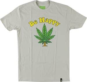 Shake Junt Be Happy T-Shirt - Size: LARGE Sand Off White