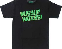 Shake Junt Wussup Haters Spray Short Sleeve S-Black T-Shirt