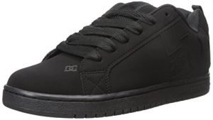 DC Men's Court Graffik Skate Shoe, Black/Black/Black, 14 M US