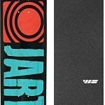 "Jart Skateboards Classic Blue Skateboard Deck - 8"" x 31.94"" with Jessup WS Die-Cut Griptape - Bundle of 2 items"