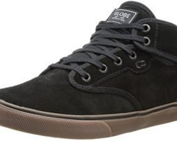 Globe Men's Motley Mid Skateboard Lifestyle Shoe,Black/Tobacco Gum,9 M US