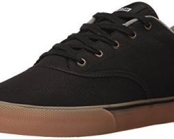 Globe Men's Tribe Skate Shoe, Black Canvas/Gum, 11 Regular US