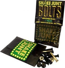 Shake Junt Andrew Reynolds Phillips Bag-O-Bolts 6 Black / 2 Gold Skateboard Hardware Set - 1""