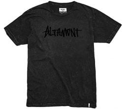 Altamont Mens One Liner Wash Short Sleeve Shirts Medium Black/Black