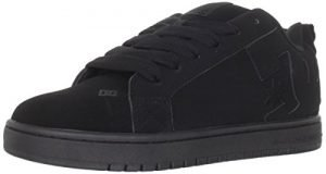 DC Men's Court Graffik Skate Shoe, Black/Black/Black, 10.5 M US