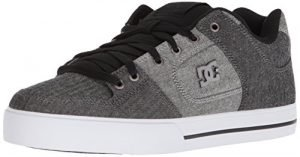 DC Men's Pure TX SE Skate Shoe, Black/Battleship/White, 12 D US