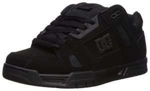 DC Men's Stag Skate Shoe Sneaker, Black/Black/Black, 10.5 Medium US
