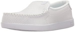 DC Men's Villain Skateboarding Shoe, White, 11 D D US