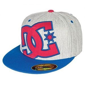 DC Men's Ya Heard Logo Hat, Blue Iris/Monument, Small/Medium