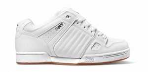 DVS Men's Celsius Skate Shoe White Leather, 10 Medium US