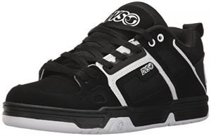 DVS Men's Comanche Skate Shoe, Black/White Nubuck, 11 Medium US