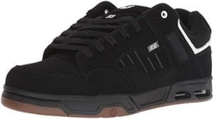 DVS Men's Enduro Heir Skate Shoe, Black/White/Black Nubuck, 12 Medium US