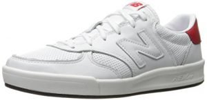 New Balance Men's CRT300 Classic Court Fashion Sneaker, White/Red, 11 D US